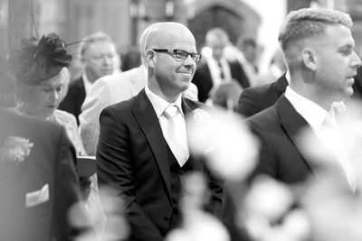 proud brother witnessing his brother wedding