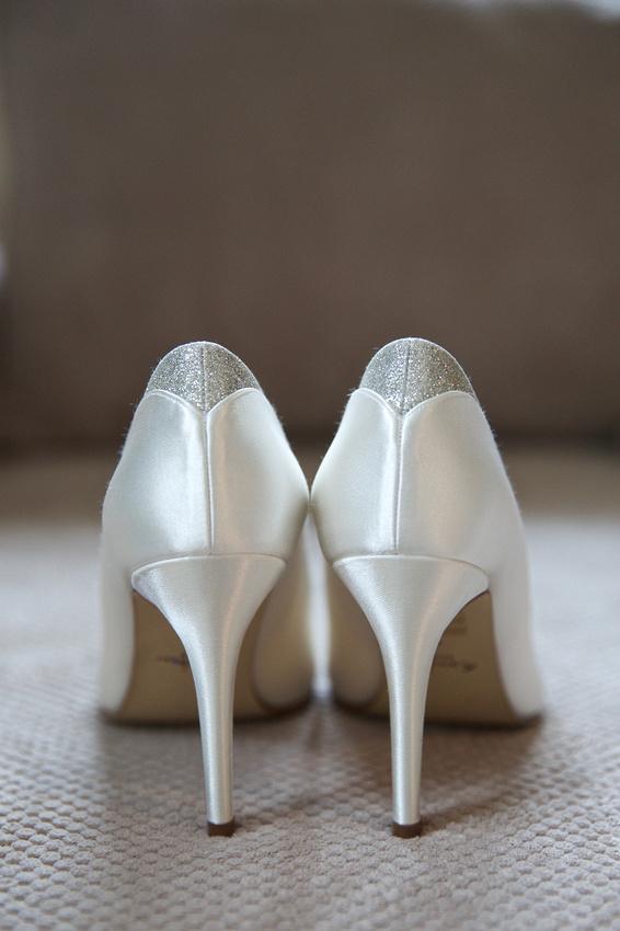 Bridal prep shoe shot
