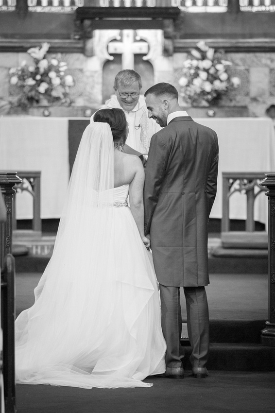 Just Married at St Thomas in Stockton Heath Cheshire Wedding Photo
