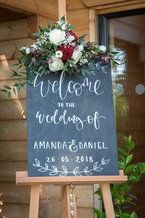 cheshire wedding sign photo