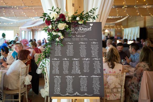 cheshire wedding table plan