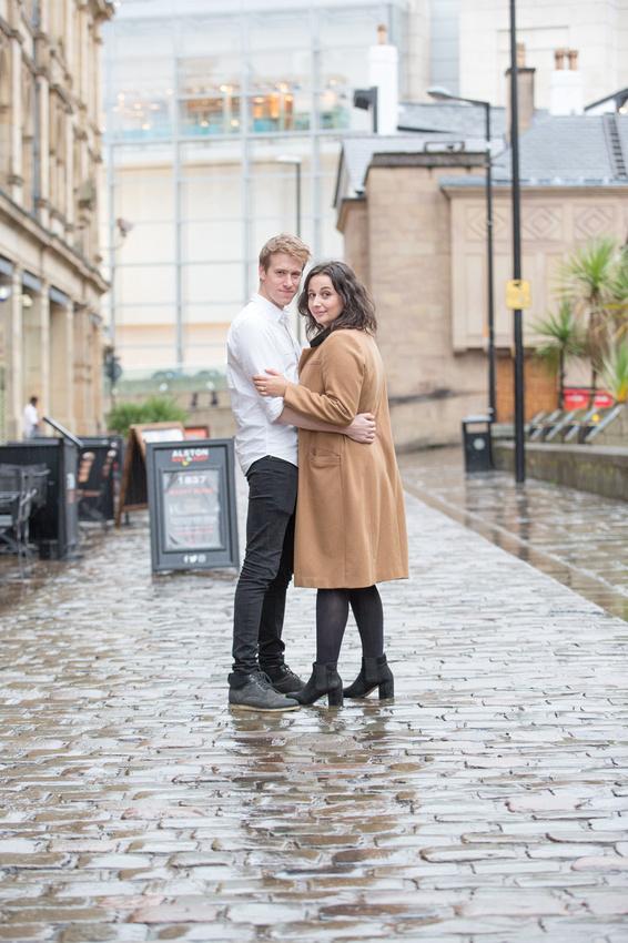 Rainy Manchester Couple Photos