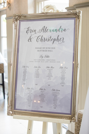 Mottram Hall Table Plan