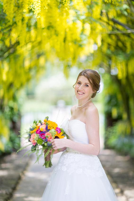 wedding photos in adlington hall gardens