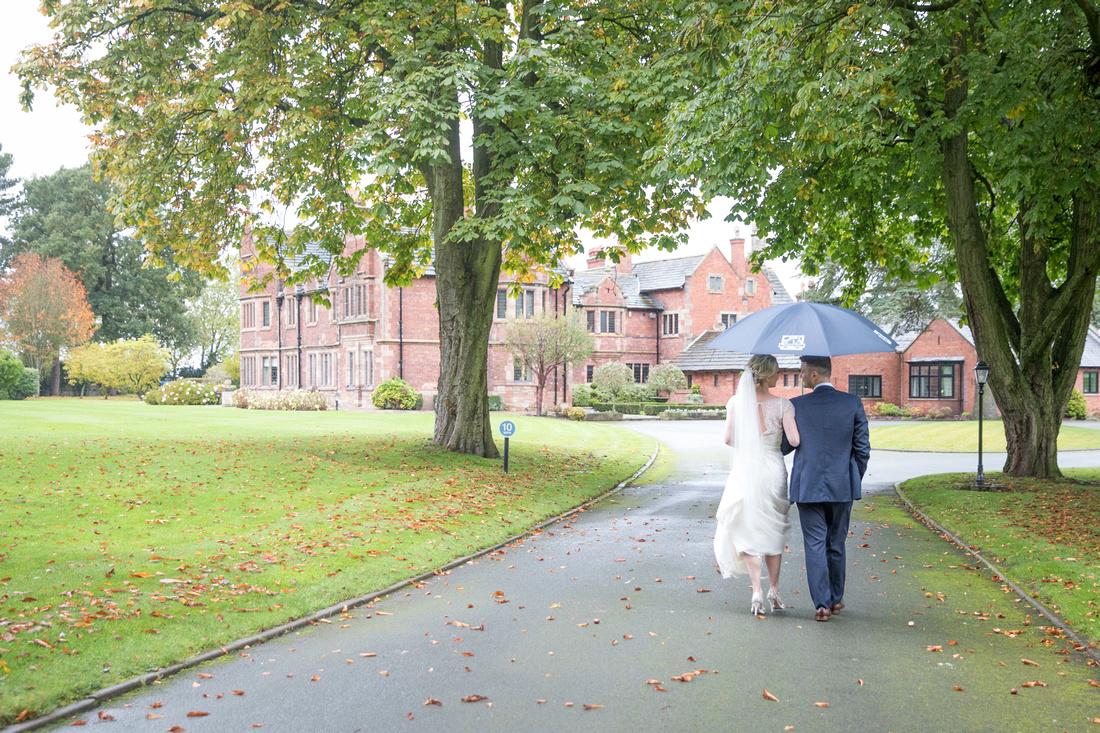 Colshaw Hall Wet Wedding Photos