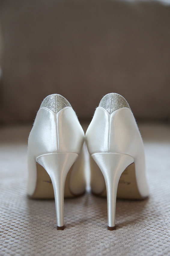 Bridal prep shoe shot