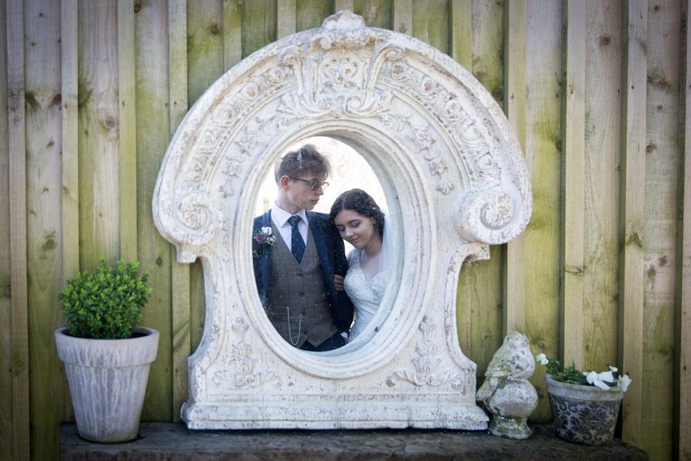Mirror wedding photograph