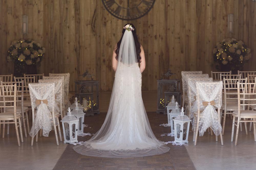 Atmospheric wedding dress photo