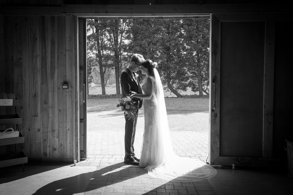 rustic barn wedding with natural light